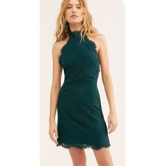 Free people NWTS size small evergreen dress